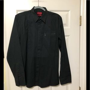 Hugo Boss designer black red tag dress shirt L